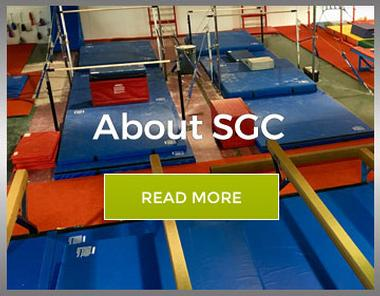 Graphic link for About Us page for Springfield Gymnastics